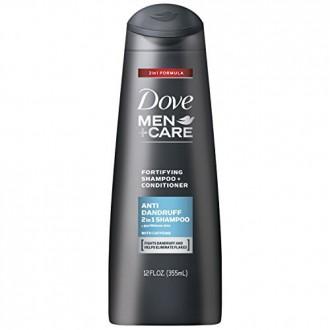 Dove Men + Care 2 en 1 champú y acondicionador, contra la caspa de 12 onzas