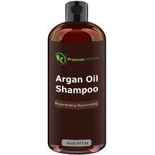 Argan Oil Daily Shampoo 16 oz, All Organic, Rejuvenates Heat Damaged Hair, Nourishes & Prevents Breakage, Sulfate Free,