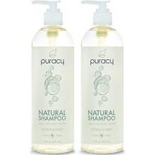 Puracy Natural Shampoo - Libre de Sulfatos - LAS MEJORES Limpiador Diario de pelo - Ingredientes clínicamente superior - Desarro
