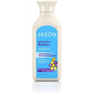 Jason Pure Natural Shampoo, Restorative Biotin, 16 Ounce
