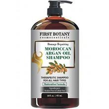 Marroquí aceite de argán Champú con Fórmula reparadora 16 fl. onz. Suave y libre de sulfatos con todo tipo de cabello. Limpia, r