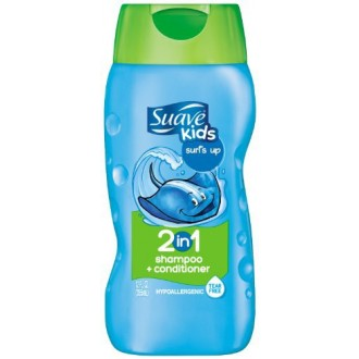 Suave Kids 2 in 1 Shampoo & Conditioner, Surf's Up 12 Ounce (Pack of 6) (Packaging May Vary)
