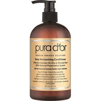 PURA D'OR Hidratación Profunda Prima Orgánica de aceite de argán y Aloe Vera Acondicionador, 16 onza líquida