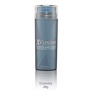 XFusion Keratin Hair Fibers, Dark Brown, Economy Size, 28g