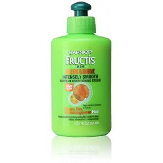 Garnier Fructis Sleek & Shine Intensamente suave sin enjuague acondicionado crema, 10.2 Fl. Onz.
