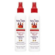 CUENTOS Romero repeler piojos Prevención enjuague acondicionado spray 8 oz, paquete de 2