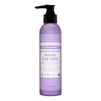 Dr. Bronner - Lavender & Coconut Hair Conditioner & Styling Creme, 6 fl oz crème