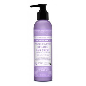 Dr. Bronner - Lavender & Coconut Hair Conditioner & Styling Creme, 6 fl oz cream
