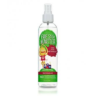 Monster fresca Kids Hair Spray Desenredante (sandía, 8 oz) - libre de sulfato - - Sin parabenos - acondicionamiento natural libr