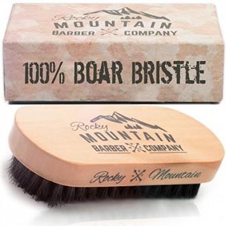 Barba Cepillo para los hombres - 100% puro de jabalí de pelo de cerda natural para la barba, el bigote - hecho a mano de la mani
