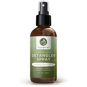 Foxbrim Soft & Lumière Detangler Spray - Nutrient Rich Laissez-In Conditioner Pour Cheveux - Ingrédients naturels et biologi