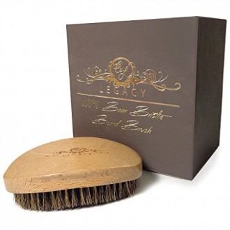 Boar Bristle Beard Brush - The Well Groomed Man's Brush for Styling and Combing Oil