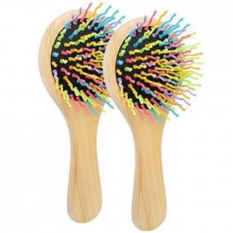 Beautyours Detangling Cepillo Peine 2pcs set (húmedo seco, protege el cuero cabelludo, w / Espejo) Madera Cepillos para el Cabel