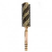 ELFINA Boar Bristle Hair Brush, Round Comb for Curling and Styling, 2 Sizes Available---L