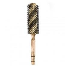 Elfina cerdas de jabalí Cepillo del pelo, peine redondo para rizar y estilo, 2 tamaños disponibles --- L