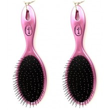 Beauticom (Quantity: 2 Pieces) Amazing Detangling Wet & Dry Hair Brush Flexible Bristles No pain No Tangle Detangle Comb