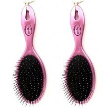 Beauticom (Quantité: 2 Pieces) Amazing démêlant Wet & Dry Hair Brush Flexible SOIES Aucune douleur Non Tangle Detangle Peign