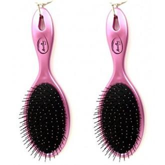 Beauticom (Cantidad: 2 Piezas) increíble Detangling seco y húmedo pelo de cepillo cerdas flexibles Ningún dolor ningún enred