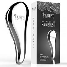Más puros Naturals Chrome Detangling sistema de cepillo de pelo - Mejor Detangler mojado peine ducha para hombres, mujeres, much