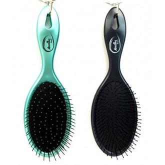 Beauticom (2 Piezas Combo metálica del trullo y Negro Metálico) increíble Detangling seco y húmedo pelo de cepillo cerdas fl