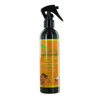 100% Pure Organic Carrot Argan Leave-In Conditioning Milk (for kids) with Jamaican black castor, coconut oil & more
